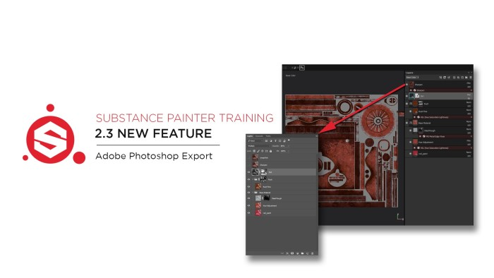 Substance Painter 2.3 Adobe Photoshop Export