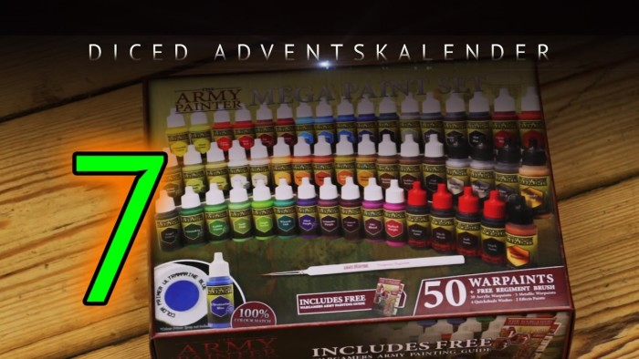 Mega Paint Set und neue Warpaints von Army Painter | Adventskalender Tür 7 | DICED