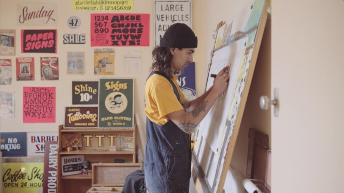 Mitch R, Sign Painter