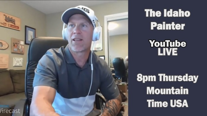 The Idaho Painter Live:  Exterior Painting Tip & Products