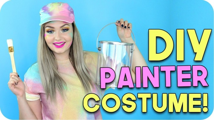 DIY Painter Costume + Makeup!