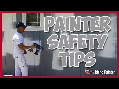Painter Safety Tips.  Ladder, Boom, Roof Safety and More.