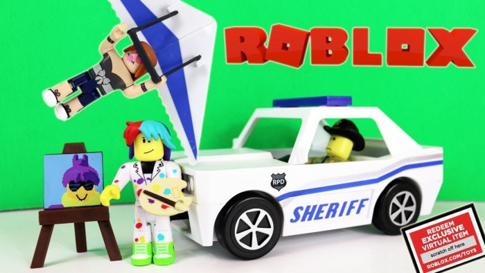 Roblox Toys Unboxing – Sheriff Car from Neighborhood of Robloxia, Pixel Painter and Glider Review
