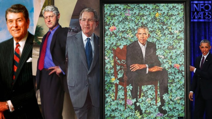 Gay Racist Painter Mocks Previous Presidential Portraits